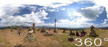 Bild anklicken, um das 360° Kugelpanorama der Stoanerne Mandln zu starten...