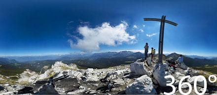 360° Weißhorn Gipfel
