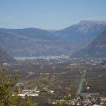Blick auf Bozen vom Naturschutzgebiet Castelfeder aus