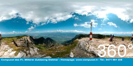 360° ausblick vom Roen ins Südtiroler Unterland