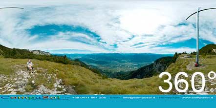 360° Ausblick vom Schwarzen Kopf auf Tramin und Kalterer See