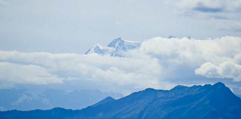 Ausblick Cimetta Monte Rosa