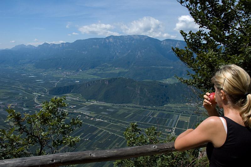 Panoramablick auf das Südtiroler Unterland
