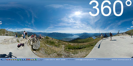 360° Foto Lago Maggiore Ausblick von der Cimetta