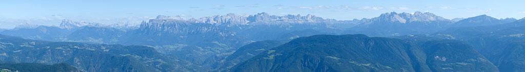 Bergpanorma der Südtiroler Gipfel