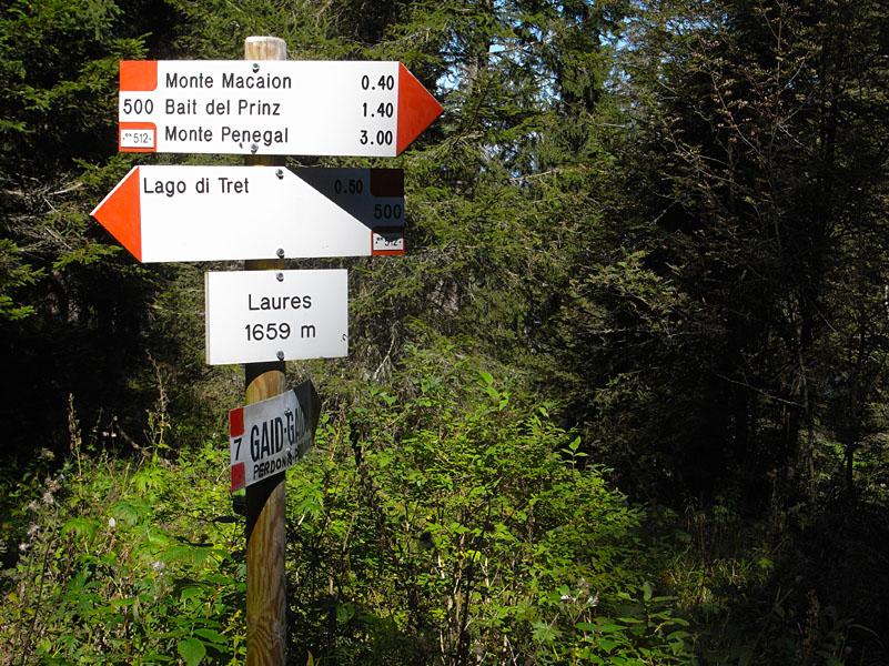 Wandern am Gantkofel in Südtirol