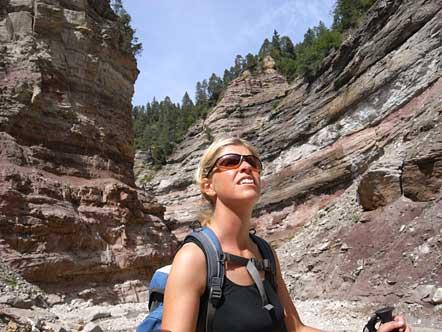 Sibille im Geoparc Bletterbach - Cran Canyon Südtirols