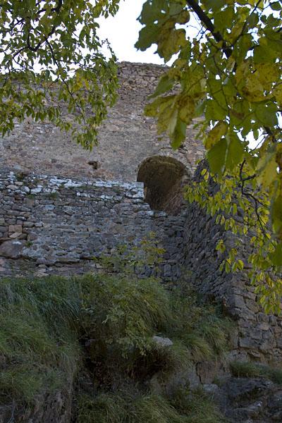 Dies ist der Eingang der Burg Greifenstein. Wer nicht klettern kann muss draußen bleiben.
