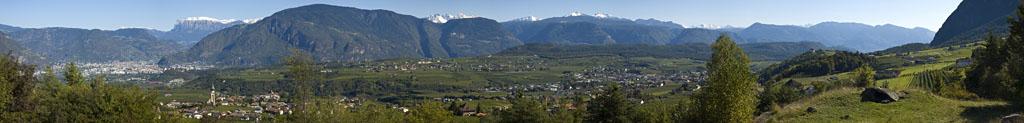 Bozen, der Schlern und das Südtiroler Unterland