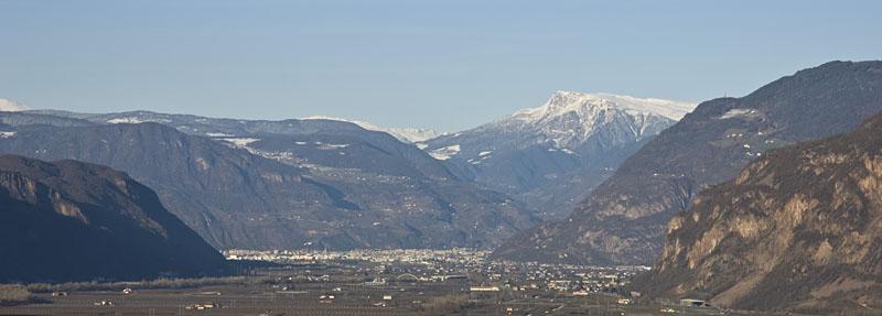 Panorama im Süden Südtirols