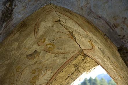 Fresken in der Ruine Kaldiff bei Mazon