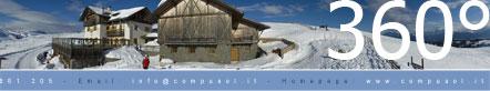 360° Rundumblick auf der Villanderer Alm im Winter (Standpunkt Stöffl Hütte)