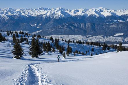 Schneeschuhwanderung Mendelpass - Roen
