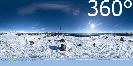 360° Foto Stoanerne Mandln im Winter