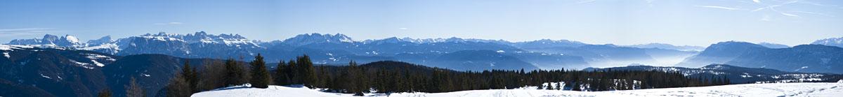 Panorama Dolomiten Unterland