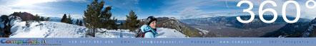 360° Foto auf dem Weg vom Fennberger Sattel zum Grauner Joch