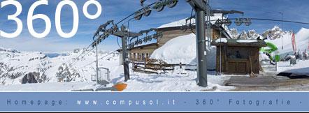 360° Rundumblick auf der Marmolada (Rifugio Pian dei Fiacconi)