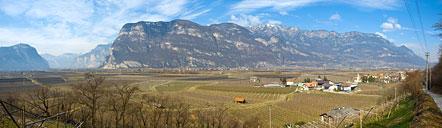Das Mendelgebirge mit Fennberg, Corno di Tres, Grauner Joch, Schwarzer Kopf, Roen