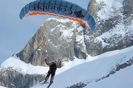 Ski-Gliding auf der Marmolata