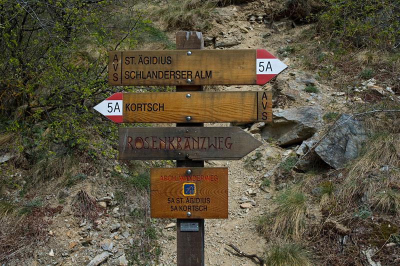Wanderweg Vetzan