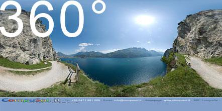 360° Kugelpanorama Ponale-Panoramastraße, Gardasee, Riva del Garda