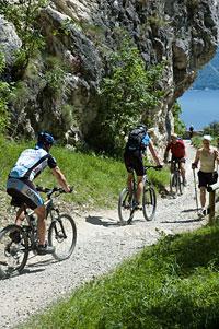 Die Ponale-Panoramastraße ist ein Eldorado für Mountainbiker