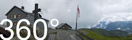 360° Foto am Gipfel des Hundstein