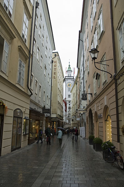 Geschäftsstraße in Salzburg