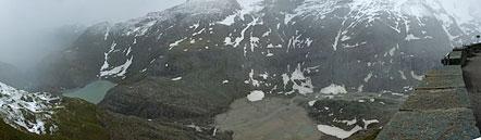 Blick von der Kaiser-Franz-Josefs-Höhe auf den Fuß des Großglockners