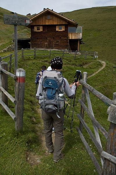 Almhütte bei der Wanderung in Lüsen / Südtirol