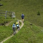 Alm bei der Wanderung in Lüsen / Südtirol