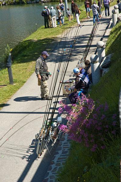 Angler am See in Madonna di Campiglio