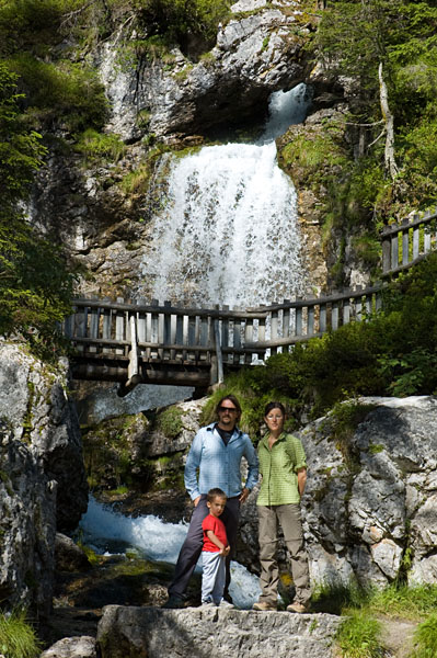 An den Vallesina Wasserfällen
