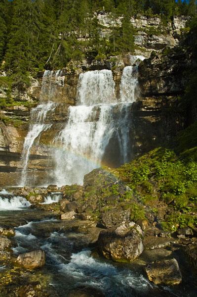 Die Vallesina Wasserfälle bei Madonna di Campiglio