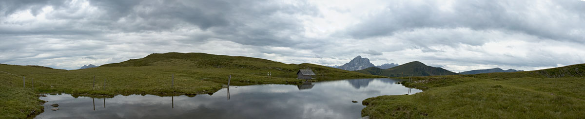 Wandern am Glittner See in Südtirol