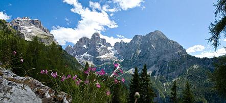 Die Brenta Dolomiten - Blick unweit der Schutzhütte Casinei