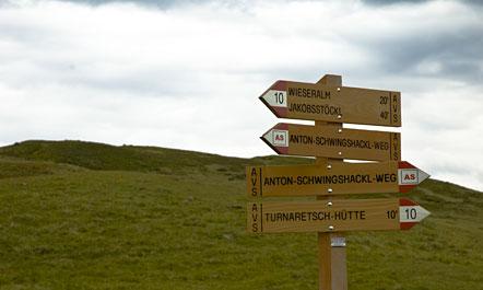 Wandern auf der Lüsner Alm (Südtirol)