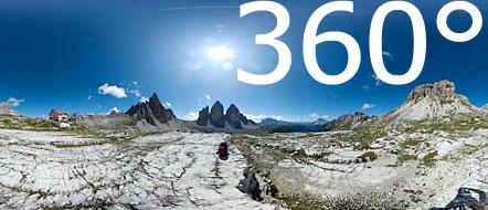 360° rund um die weltbrühmten Dreizinnen und der Dreizinnenhütte