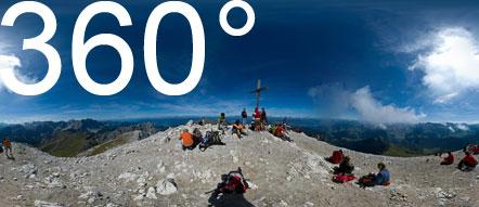 Am Gipfel des Peitlerkofels.
