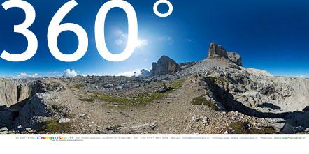 Am Ende der gesicherten Kletterpassage unweit der Pisciadù Schutzhütte