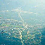 Blick auf Dorf Tirol und Umgebung