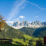 Geislerspitzen auf dem Heimweg durch Villnösser Tal