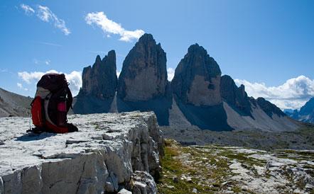 Dreizinnen im Herzen der Dolomiten - wandern in Südtirol