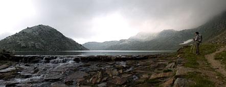 Der Langensee, der größte der Spronser Seen