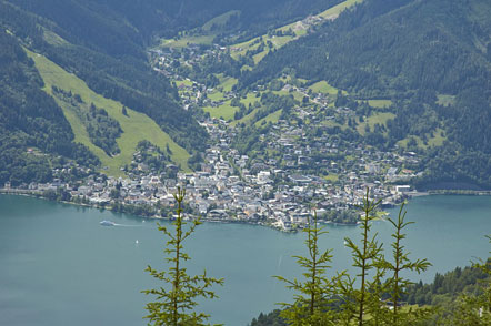 Die Stadt Zell am See am Zeller See