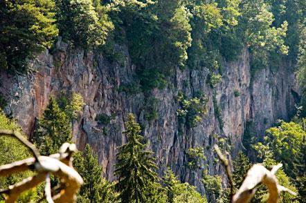 Felswand am Tschaufen