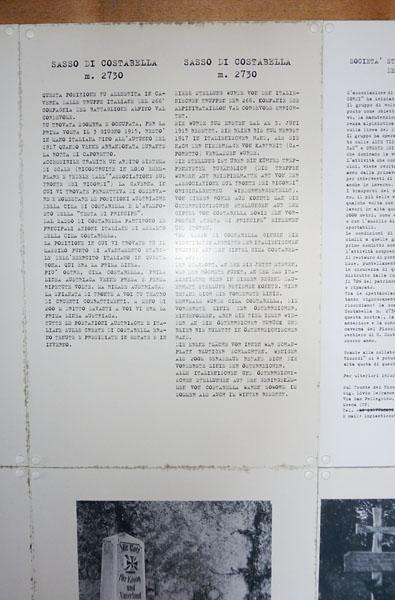 Ausstellung im Kriegsmuseum im Felskokon
