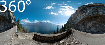 360° über dem Gardasee auf der nicht mehr befahrbaren alten Straße Campione - Pieve