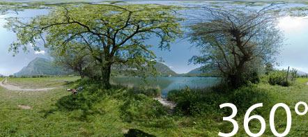Am Südufer des Toblino See. 360° Foto.