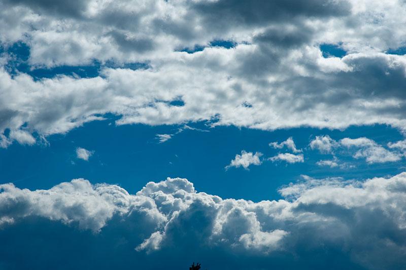 Himmel über dem Rittner Hochplateau